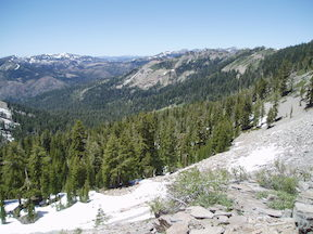 view into Bear Pen from PCT
