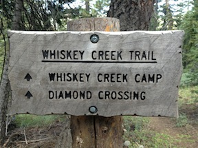 Pacific Crest Trail - Whiskey Creek Trail jct
