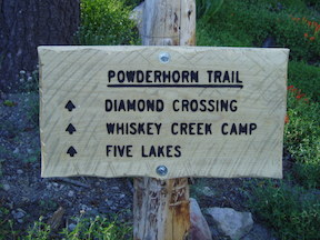 Powderhorn Trailhead Sign
