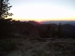 sunset from Granite Chief peak